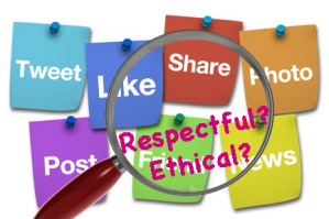 "ethical posts social media respect ""fake news"""