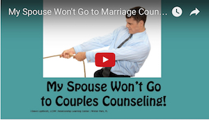my partner won't go to couples counseling
